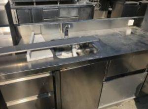 Rozsdamentes lábazati szerkény mosogatóval