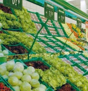 Zöldséges állvány (ládás)