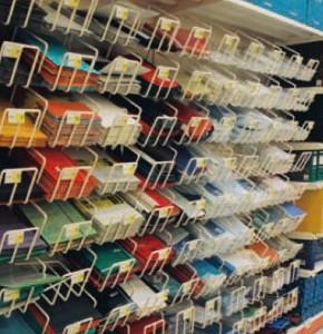 Papírárus polcrendszer