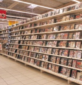 DVD/VHS tartó polcrendszer