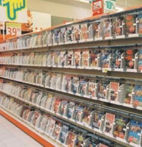 CD/DVD tartó polcrendszer