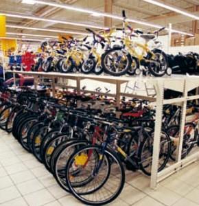 Kerékpártartós polcrendszer